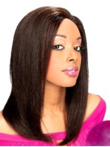 "Natural Hair Wigs For Black Women Shoulder Length 14"" Trendy"