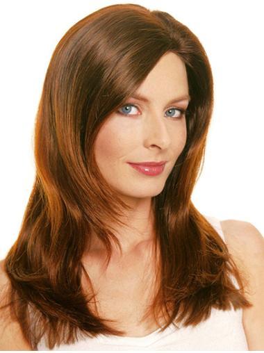 "Monofilament Long 20"" Suitable Pure Natural Wig"