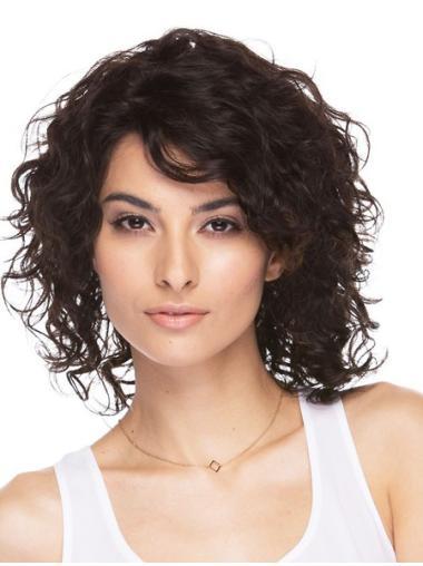 """Brown Wavy 12"""" Best Wigs Look Like Natural Hair"""