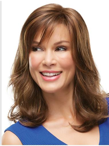 With Bangs Wavy High Quality Front Lace Synthetic Wig