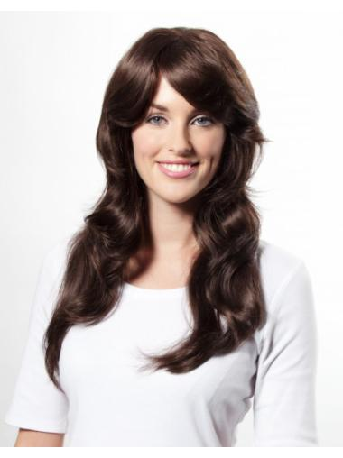 Auburn Wavy Long Synthetic Natural No Glue Lace Wigs