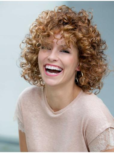 Synthetic Auburn Affordable Classic Curly Synthetic Lace Wigs