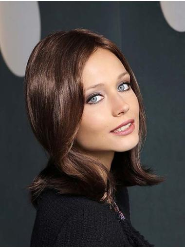 """Straight 14"""" Shoulder Length Synthetic Brown New Season Monofilament Wigs"""