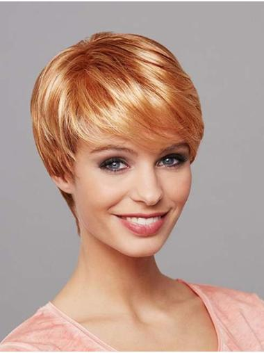 """Straight 8"""" Short Synthetic Blonde Mono Wig"""
