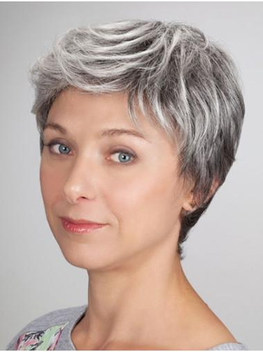 """Monofilament 6"""" Cropped Synthetic Boycuts Ladies Wigs"""
