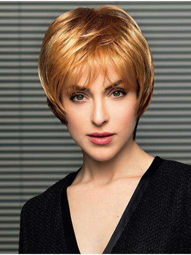 """Straight 8"""" Short Synthetic Blonde Mono Wigs"""