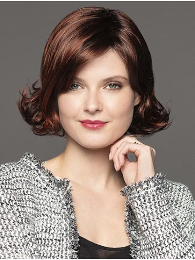 """Chin Length Capless 10"""" Brown Classic Lady Wig"""