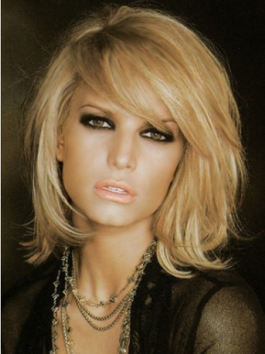 100% Hand-Tied With Bangs 10 Inches Natural Jessica Simpson Human Hair