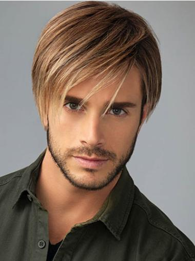 Straight 8 Inches Short Ideal Synthetic Wig For Men Young