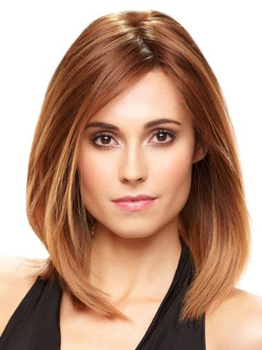 Incredible Straight Monofilament Auburn Hair Wig Human Hair