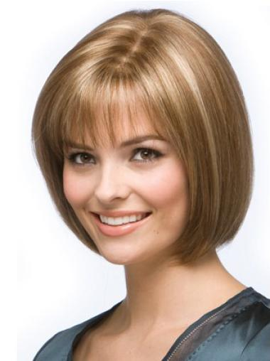 "Soft Blonde Straight Capless 10"" Best Human Hair Bob Wigs"