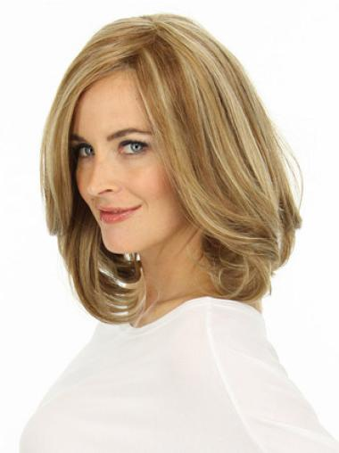 Wavy Layered Online Blonde Lace Front Human Hair Wigs