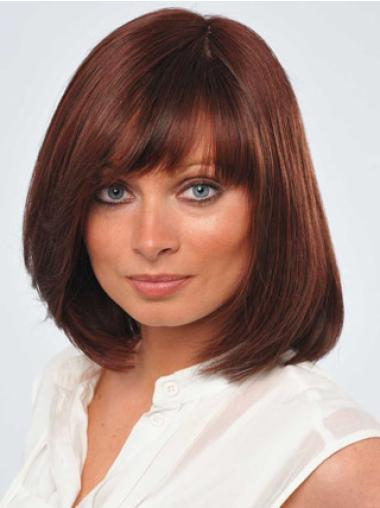 Sassy Bobs Chin Length Remy Afordable Red Human Wigs