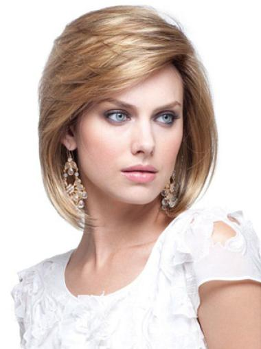 Chin Length Straight Blonde Cheap Bob Wigs Human Hair