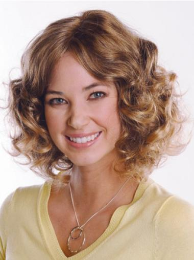 "Great Brown Curly Capless 12"" Curly Human Hair Wig"