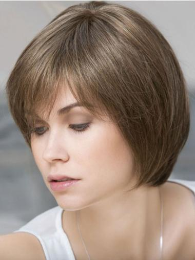 Bobs Brown Short Trendy 10 Inch Brown Human Lacy Wigs