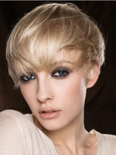 """Designed Boycuts Capless 4"""" Agfordable Human Hair Wigs Short Style"""