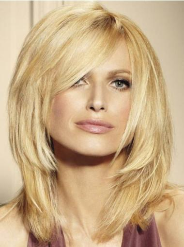 Amazing Shoulder Length Layered Blonde Lace Front Wigs Human Hair