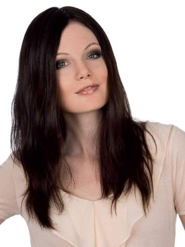 Fashion Wigs Human Hair Long Without Bangs Auburn Long