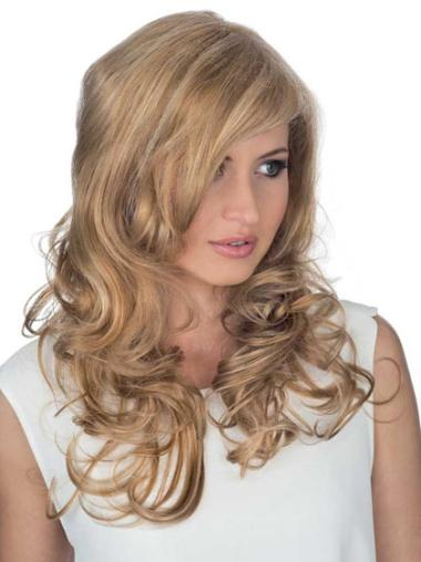 Discount Layered Blonde Long Curly Hair Wigs Human Hair