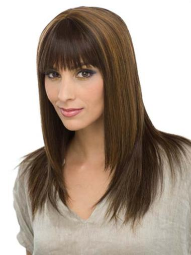 Long Straight Capless Good Brown Human Hair Wigs
