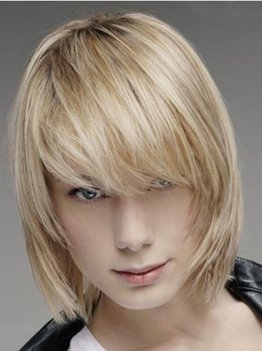 Chin Length Lace Front Affordable Straight Wigs For Men
