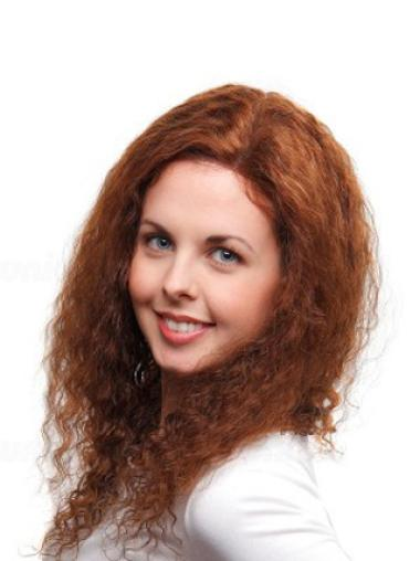 Best Human Hair Wigs Curly 100% Hand-Tied Long Without Bangs
