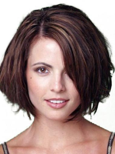 Auburn Straight Popular Remy Human Hair Wigs Bob Style