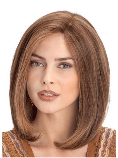 "Auburn Lace Front Straight 12"" Customized Remy Human Hair Wig"