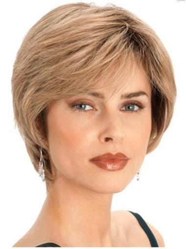 Blonde Straight Style Human Hair Bob Wigs