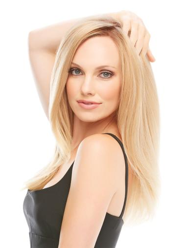 """Amazing 17"""" Blonde Long Layered Straight Lace Front 100 Percent Human Hair Wig"""