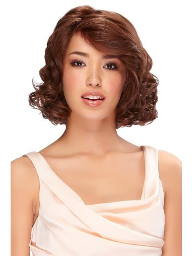 "Bobs Flexibility Synthetic Chin Length Wavy Auburn 12"" Wig"