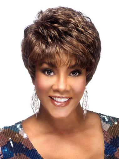 Great Cropped Capless African American Wigs For Seniors