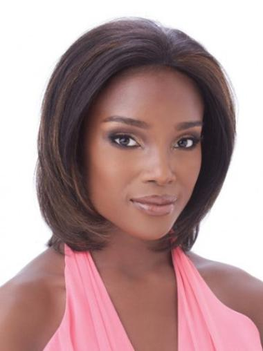 Auburn Lace Front Chin Length African American Black Womens Human Hair Wigs