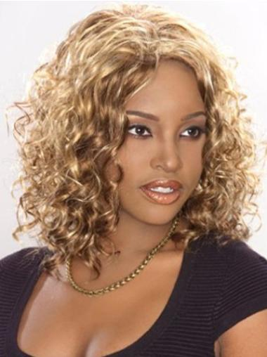 Synthetic Lace Front Curly Blonde Wigs For Black Women