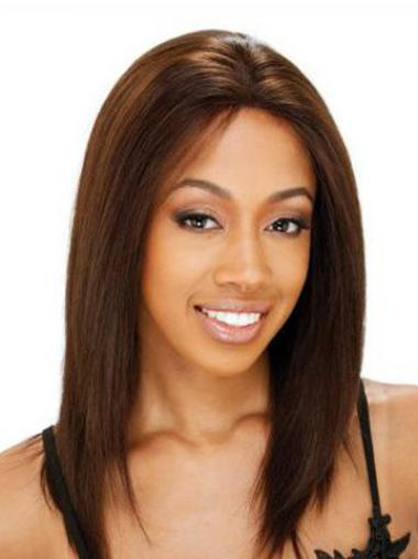 Straight Lace Front Trendy African American Human Wigs