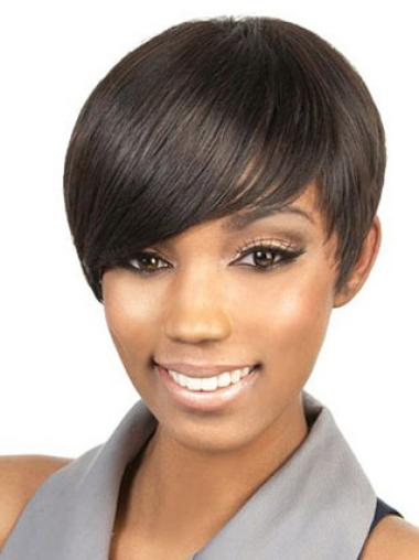 Boycuts Brown Natural Looking Wigs For African American