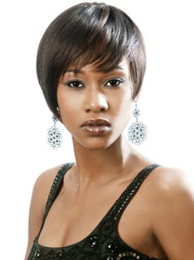Boycuts Black Capless Short Hair Wigs For Black Women