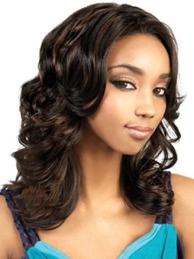Trendy Wavy Long 18 Inches African American Wigs Online