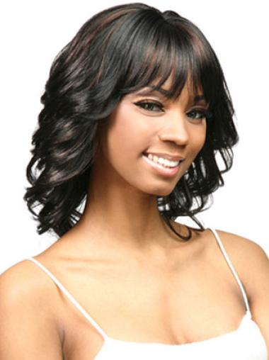 New Curly Shoulder Length Afro Hair Wigs For Black Women