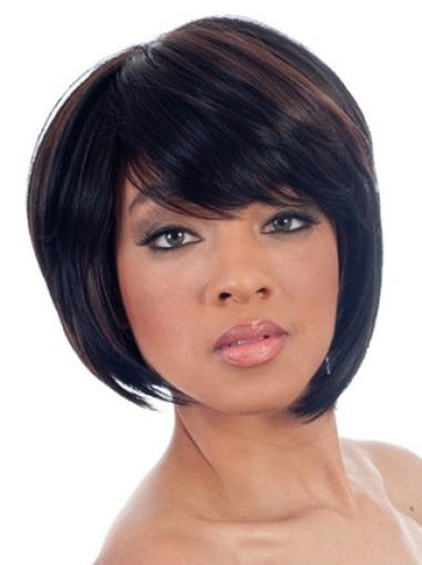 Online Straight Chin Length 8 Inches Wigs For Black Womens