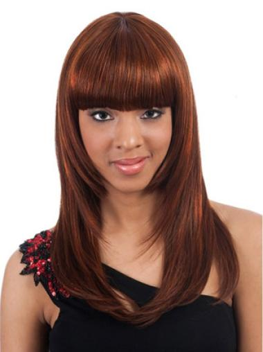 Sleek Yaki Long 20 Inches Long Hair Wigs For Black Women