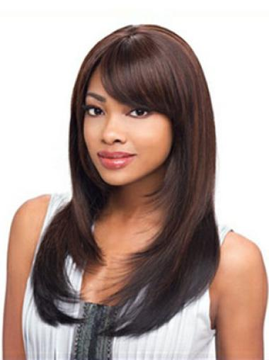 Synthetic Straight Auburn Sassy Long Layered Wigs For Black Women