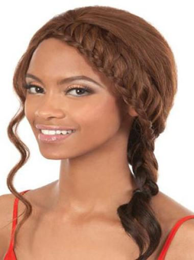 Synthetic Wavy Natural Shoulder Length Hair For Black Woman