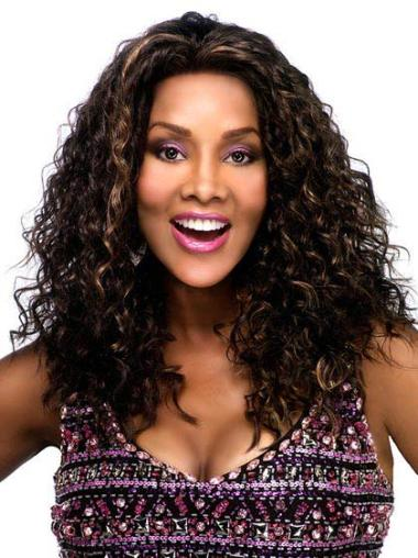 Synthetic Kinky Brown Suitable Black Women Long Hair Wigs