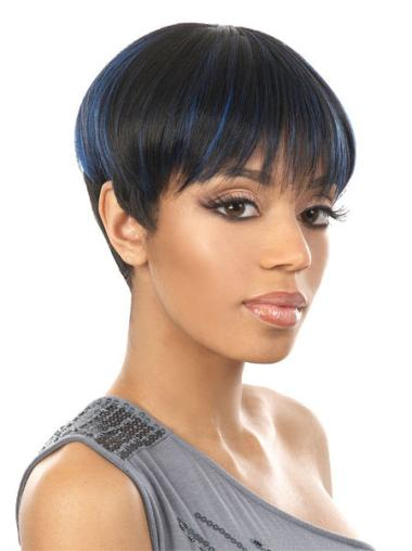 Cheapest Synthetic Boycuts Capless Wig For Black Womens