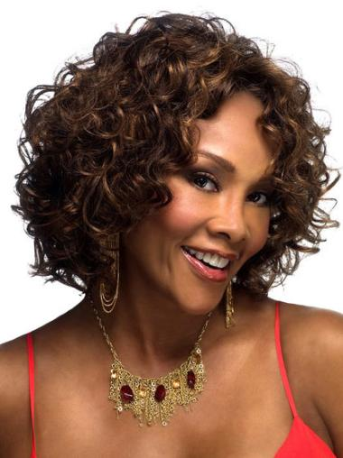 Curly Capless Synthetic 13 Inches Best African American Curly Wigs