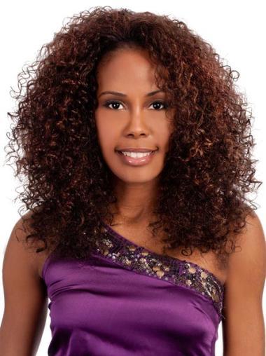 Kinky Capless Synthetic Shoulder Length Hair For Black Women