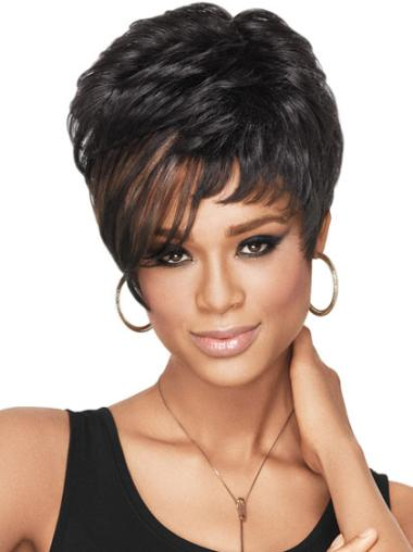 Capless Comfortable Wigs Boycuts African American