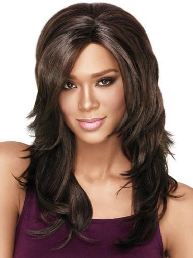 Comfortable Black Wavy Layered Capless Black Women Wigs